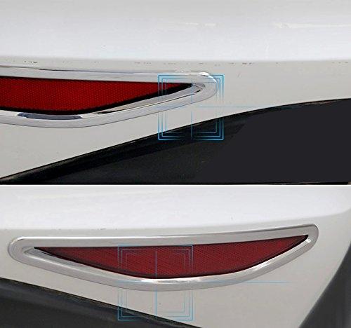 High Flying Plastique ABS chrom/é ext/érieur arri/ère moulures de phare antibrouillard 2/pcs pour accessoire Auto Vwg7
