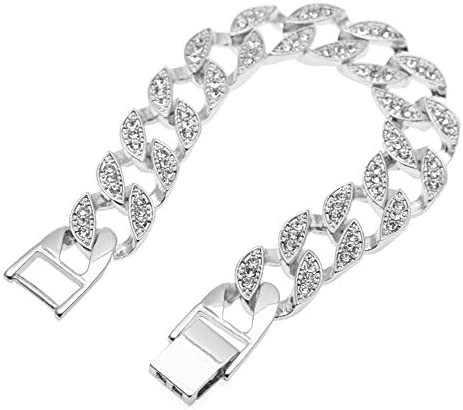 メンズブレスレット、アロイダイヤモンドファッションパーソナリティジュエリー、クラシックポリッシュメンズバースデーギフト