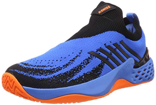 (K-Swiss Men's Aero Knit (Brillant Blue/Neon Orange, 11.5))