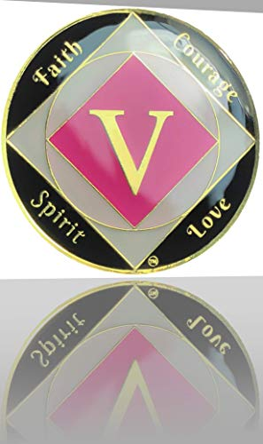Simply Minimal ™ 5 Year NA Gold Plated Medallion, Recovery Token, NA Token, Triple Clear Epoxy Sealed