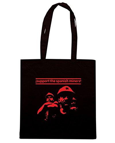 T-Shirtshock - Bolsa para la compra TCO0107 spanish miner Negro