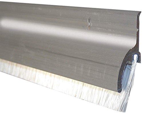 Pemko 085651 345ANB48 Brush Seal Aluminum Container with Rain Drip, 1.5'' width, 48'' Length, Aluminum by Pemko