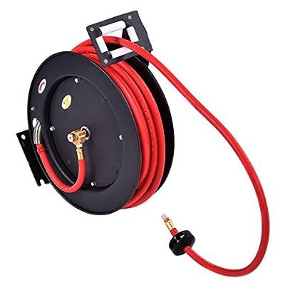 3/8 x 50' Auto Rewind Retractable Air Hose Reel Compressor 300 PSI