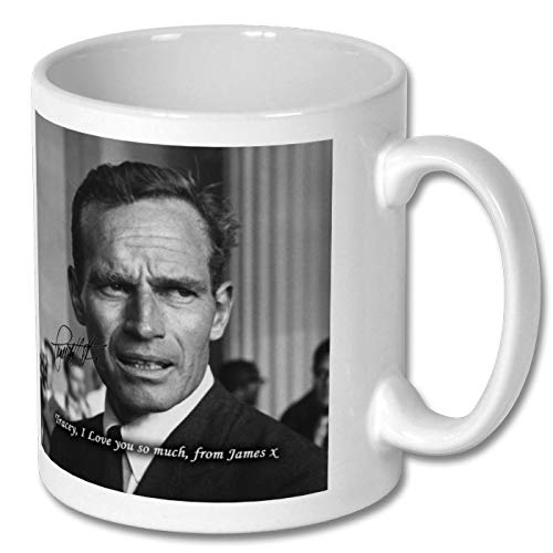 Star Prints UK Charlton Heston 1 Personalised Gift Mug Coffee Tea Drink Cup Autograph Print (with Personalised Message)
