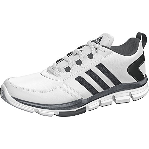 adidas Men's Speed Trainer 2 SLT White/Carbon Metallic/Onix Athletic Shoe (Athletic Metallic Tie)