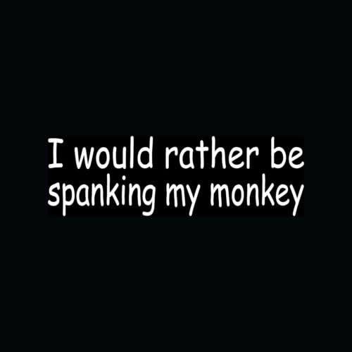 Spank Your Monkey Decal Sticker