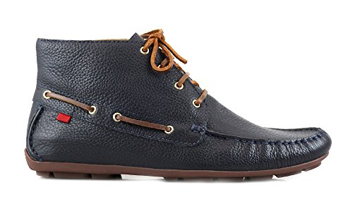 Marc Joseph NY Men's Fashion Shoes Soho Driver Bootie Navy Grainy Size 10 (More Size/Colors Available)