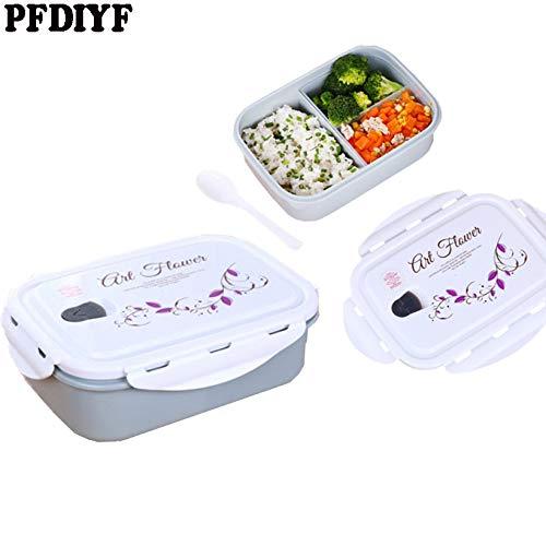 Fiesta 1 PCS Nueva caja de almuerzo portátil de plástico de grado alimenticio Contenedor de alimentos con capacidad de...