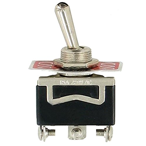Etopars 5 X Heavy Duty 20A 125V 15A 250V SPDT 3 Terminal Pin ON//OFF//ON Rocker Toggle Switch Flick Metal