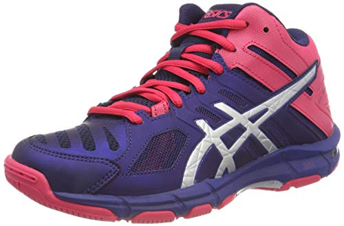 Women's Gel Volleyball Shoes Asics Blue Blue Mt Silver 5 Print 400 Beyond 56HZBBdq