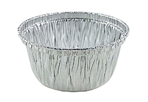 4 oz. Aluminum Foil Utility Cup 1000/CS - Disposable Cupcake/Ramekin/Muffin Cup by Osislon Series