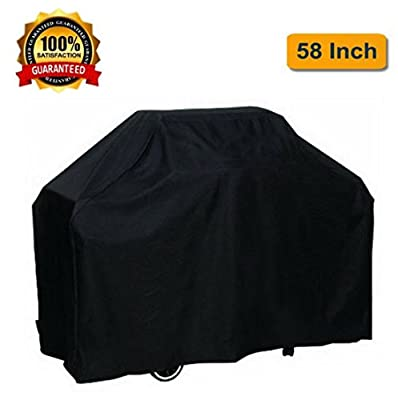 OUTDOOR DOIT Grill Cover 58 Inch, Grill Covers Heavy Duty Waterproof UV Protected Crack Resistant for Outdoor. BBQ Oxford Grill Cover for Most Brands Grill like Brinkmann Holland Weber,Char Broil