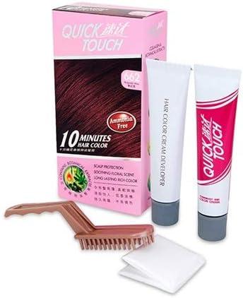 Quick Touch 662 - Tinte permanente para cabello (10 minutos), color borgoña