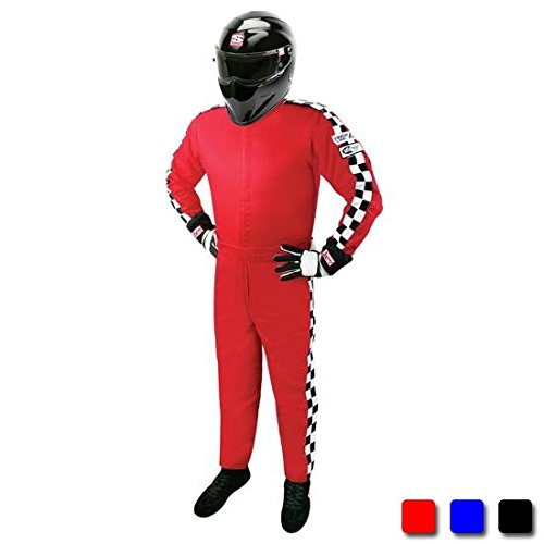 Finishline SFI-1 Qualifier 1-Piece Racing Suit, Black XXXXL ()