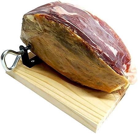 Jamón Serrano - Contramaza 1.5kg + Jamonero Mini + Cuchillo Jamonero | Degusta Teruel