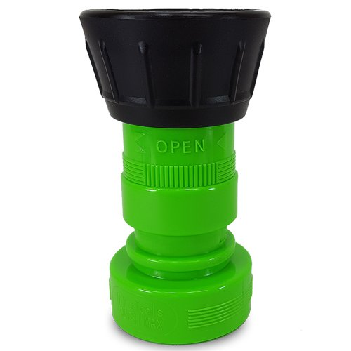 Heavy Duty Plastic 1 1/2'' Fire Nozzle (NH) with Large Durable Rubber Bumper - Lime Green