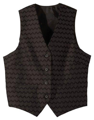 Edwards Garment Women's V-Neck Brocade Pattern Vest, Black, Large - Womens V-neck Edward T-shirt