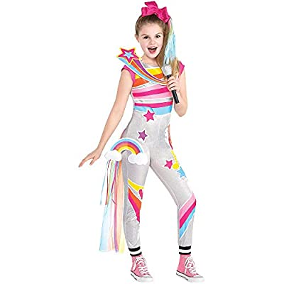 Party City D.R.E.A.M. Tour JoJo Siwa Costume for Children, Includes Jumpsuit, Hair Bow, Train, and Patches