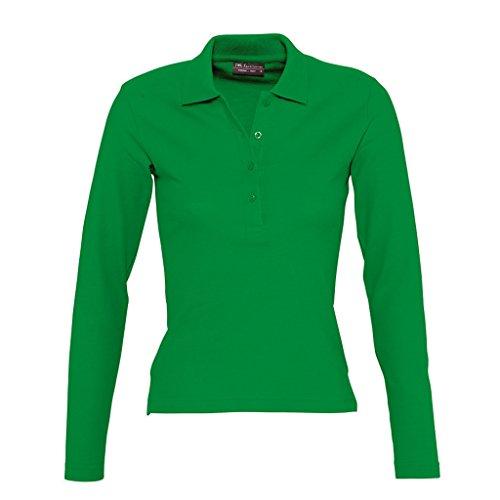 Lunghe Maniche 100 Verde Polo Kelly Sols Cotone Donna 5xZTER1w