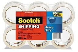 Scotch Heavy Duty Shipping Packaging Tape, 1.88 Inches x 54.6 Yards, 8 Rolls (3850-8), 436YD (400 m)