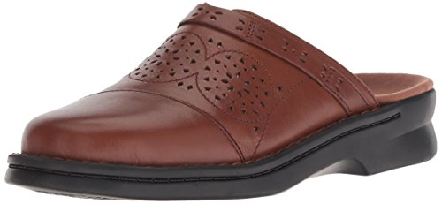 - CLARKS Women's Patty Renata Clog, Dark tan Leather, 075 W US