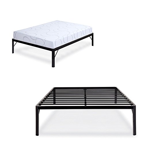 Haven Place USA STAVE 18 Inch High Heavy Duty Steel Slat Bed Frame with Round Corners (Stave Place)