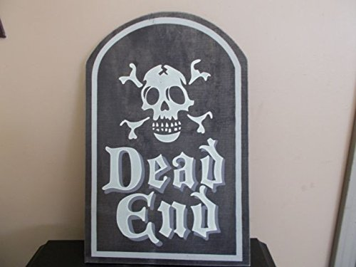 Dead End Wooden Tombstone Halloween Decoration 18 inches (Wooden Tombstones Halloween)