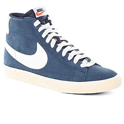 premium selection fdfee 5a42e Amazon.com | Nike Blazer High Vintage, Obsidian/Sail Uk Size ...