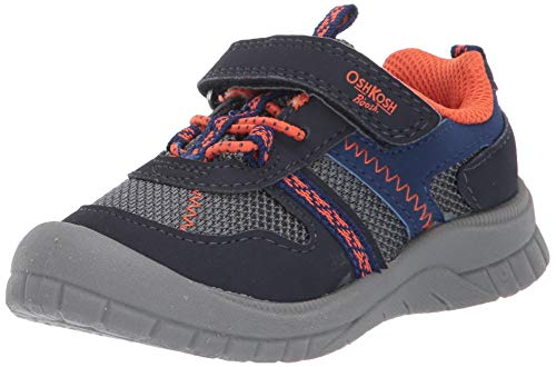 OshKosh B'Gosh Boys' GARCI Sneaker, Navy/Orange, 10 M US Toddler (Boys Shoes Toddler Oshkosh)