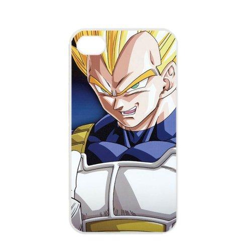 Price comparison product image Dragon Ball Manga Comic Slim Vegeta Apple iPhone 4 / 4s TPU Soft Black or White case (White)