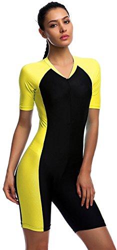 f2322411fd2 Modest Swimwear - Girls   Ladies Modesty Jumpsuit One Piece Short Sleeve Swimming  Costume (Int l - L