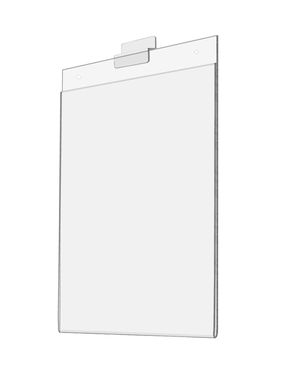 New Clear Acrylic Slatwall Horizontal Sign Holder Display Advertising Marketing