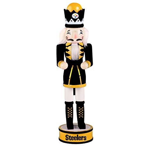 "FOCO NFL Pittsburgh Steelers Holiday Nutcracker 14"" Holiday Nutcracker 14"", Team Color, One Size"