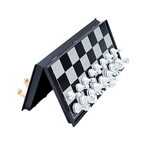 TUANTALL Ajedrez para Ni?Os Ajedrez Magnetico Juego de ajedrez Torneo de ajedrez. Tablero de ajedrez Juego Niños Juego…
