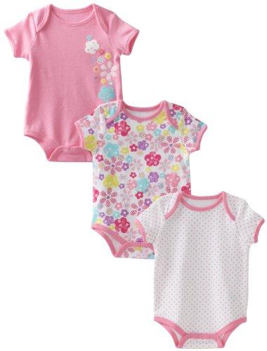 Babyworks Baby-Girls Newborn 3 Piece Set Creepers Bodysuit, Pink, 6-9 Months