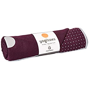 Well-Being-Matters 41bh39uKsRL._SS300_ Yogitoes Manduka Yoga Towel – Rubber Grip Dots Non-Slip Bottom, Quick Dry Fitness Towel for Hot Yoga, Pilates, Exercise…