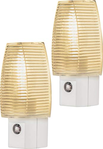 Lights By Night Incandescent Night Light, 2 Pack, Plug-in, Dusk-to-Dawn, Warm White, UL-Listed, Ideal for Bedroom, Nursery, Bathroom, Hallway, 55207