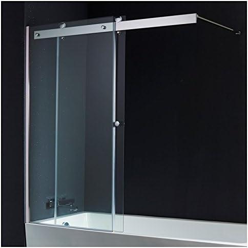 PlaneteBain - Mampara de bañera, corredera, 140 x 150 cm: Amazon ...