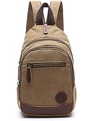 Lightweight Mini Canvas Backpack for Women Girls Purse Small Rucksack Sling Bag
