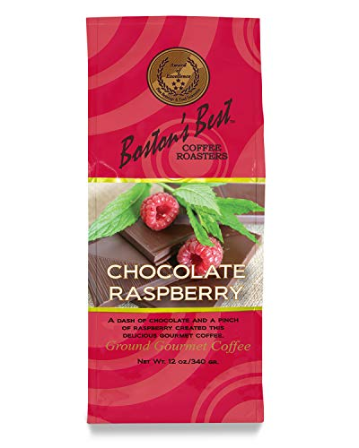 Boston's Best Coffee Chocolate Raspberry Flavored Arabica Coffee -12 Ounce Ground