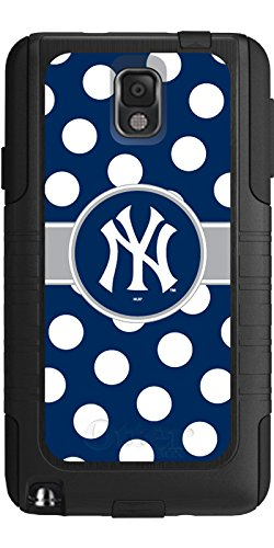 Coveroo Commuter Series Case for Samsung Galaxy Note 3 - Retail Packaging - New York Yankees - Polka (New York Yankees Note)