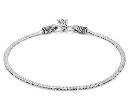 D&D Crafts Oxidized Silver Tone Sterling Silver Anklets Pair For Girls, Women by D&D (Image #2)