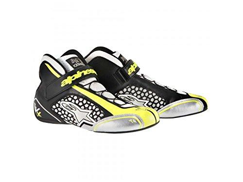 ALPINESTARS TECH 1-KX SHOES - WHITE/BLACK/YELLOW FLUORESCENT - SIZE (Alpinestars Racing Shoes)