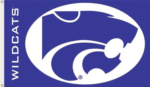 NCAA Kansas State Wildcats 3-by-5 Foot Flag with Grommets (Wildcats Ncaa College Bedding)