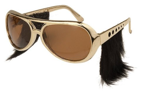 Loftus International Elvis Glasses with Sideburns (Sunglasses High Elvis Quality)