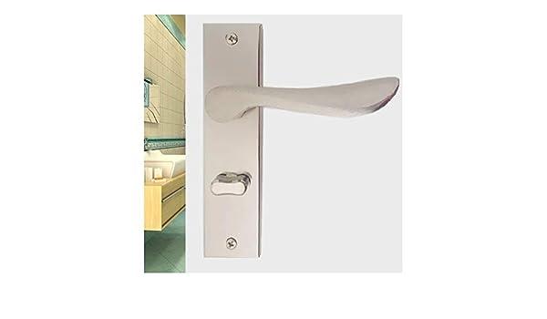 De acero inoxidable Universal baño interior de la puerta Cerraduras Cerraduras sin llave Aseo Baño Aseo Cerraduras de bloqueo Pequeño 125mm Lengua Fácil instalación: Amazon.es: Bricolaje y herramientas