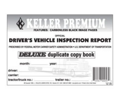 J.J. Keller Detailed Driver's Vehicle Inspection Report, 2-ply, Carbonless (2)