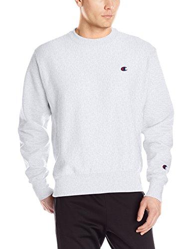(Champion LIFE Men's Reverse Weave Sweatshirt, Silver/Gray, Small)