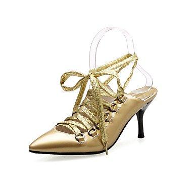 LvYuan Mujer-Tacón Stiletto-Otro-Sandalias-Vestido Informal Fiesta y Noche-PU-Plata Oro Gold