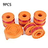MZS Tec 065 Trimmer Line, 10ft Replacement Spools for Worx WA0010 String Trimmers, Yard Tidy Auto Feed Weed Trimmer Line with Cap (8 Pack)